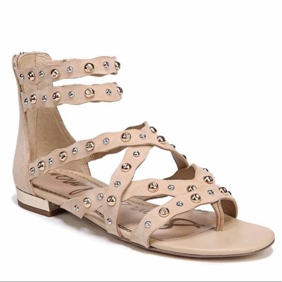 4ff8e47ba3cff Sam Edelman Daya Natural Suede Studded Sandals